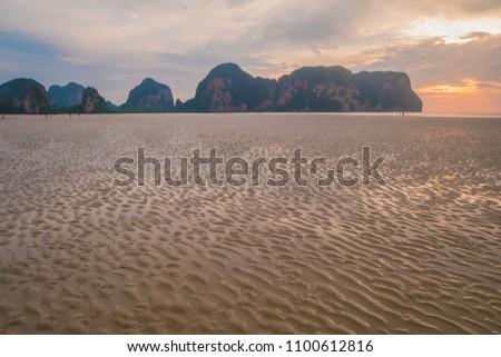 Sunset at Rajamangala beach, Trang Southern of Thailand