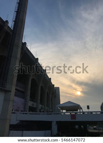 Sunset at Rajamangala Stadium Thailand