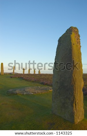 Sunset at Ring of Brodgar, Orkney, Scotland