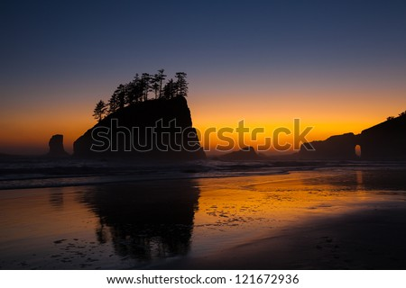 Sunset at Second Beach Olympic National Park