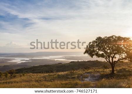 Sunset at Serra da Canastra National Park - Delfinopolis, Minas Gerais, Brazil