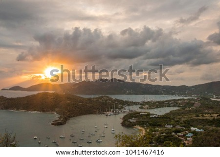 Sunset at Shirley Heights in Antigua #1041467416