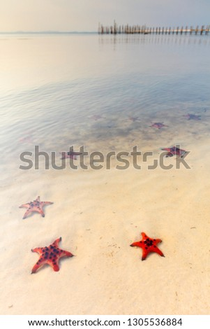 Sunset at Starfish beach, Phu Quoc, Vietnam