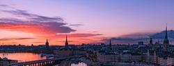 Sunset at Stockholm, Sweden