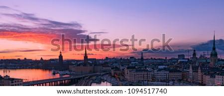 Sunset at Stockholm, Sweden #1094517740