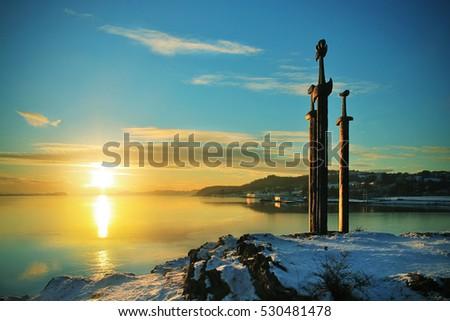 sunset at sverd i fjell  swords ...