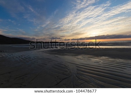 Sunset at Tangasdal (Isle of Barra) - Outer Hebrides (Scotland)