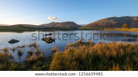 Sunset at Tewet tarn, a small and not well known tarn of the Enlgish lakes.