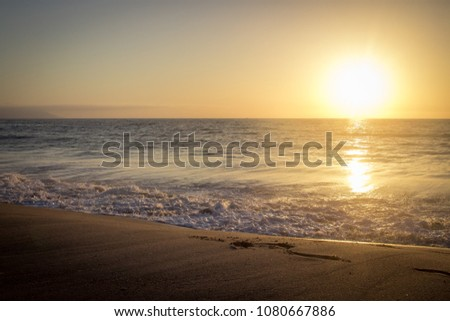 Sunset at the beach - Puerto Vallarta. Best beach in Mexico.