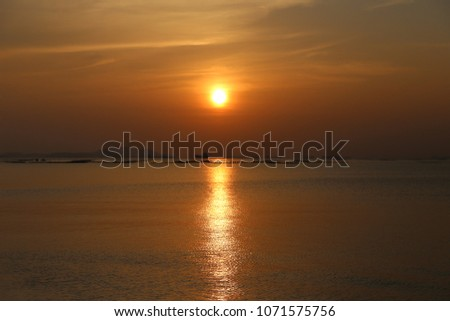 Sunset at the Pattaya beach in Thailand #1071575756