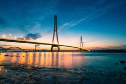 Sunset at The Third Nanjing Yangtze River Bridge