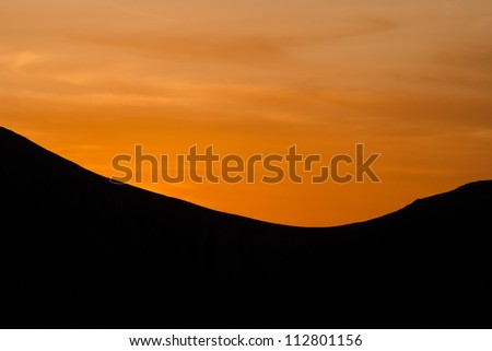 Sunset at the top of the mountain