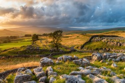 Sunset at the Winskill Stones near Settle in the Yorkshire Dales National Park