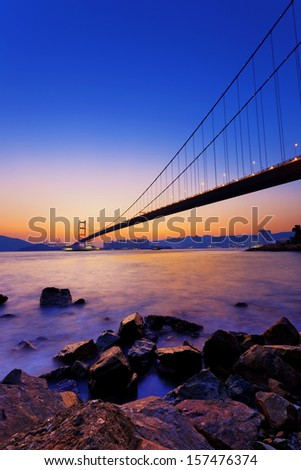 Sunset at Tsing Ma Bridge  #157476374