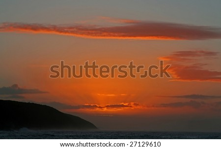 Sunset at Tsitsikamma National Park, South Africa