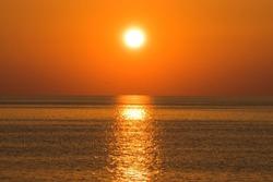 Sunset background, Black sea sunset view and landscape in Adjara, Georgia