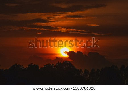 Sunset background Evening sunset Sunset #1503786320