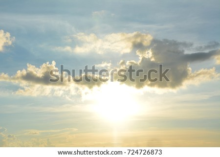 Sunset background in the evening #724726873