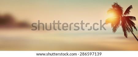 sunset banner background....