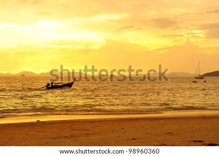 Sunset Beach Background