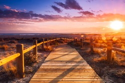 Sunset beach near Almeria. Cabo de Gata Nijar Natural Park, Almer���­a. Spain. Andalusia