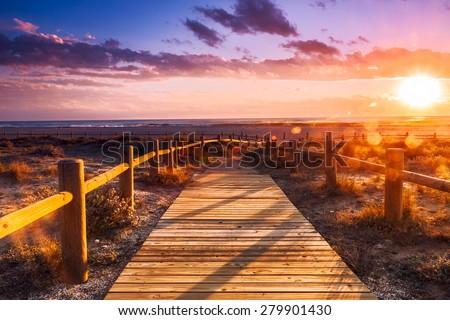 sunset beach near almeria. cabo ...