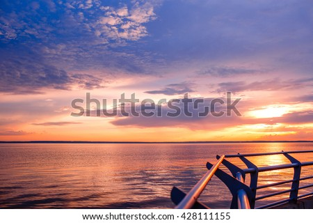Sunset. Beautiful sunset above  sea. Lake sunet. Amazing sunset Awesome sunset. Sunset  sea waves. Summer sunset. Landscape sunset. Beautiful sunset. Travel sunset