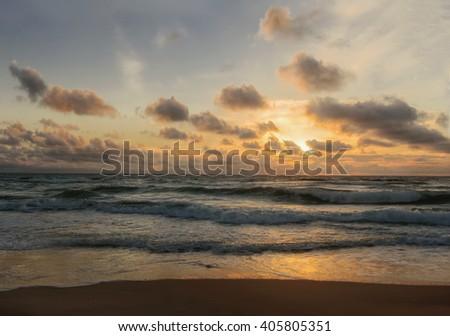 Sunset. Beautiful sunset at black sea. Gold sea sunset. Sea sunset. Sea sunset background. Amazing sea sunset Sunset sea picture. Sunset sea waves. Summer sunset.
