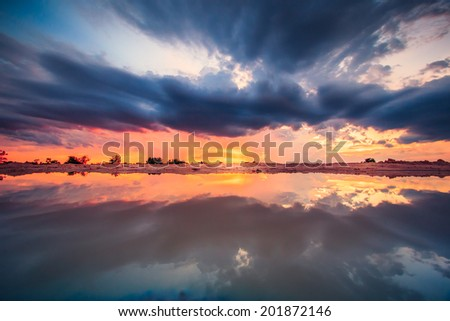 Sunset blue sky and clouds Storm clouds backgrounds
