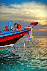 sunset boat in Thailand - Koh Phangan island