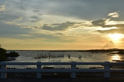 Sunset by the road in San Enrique, Negros Occidental, Philippines.
