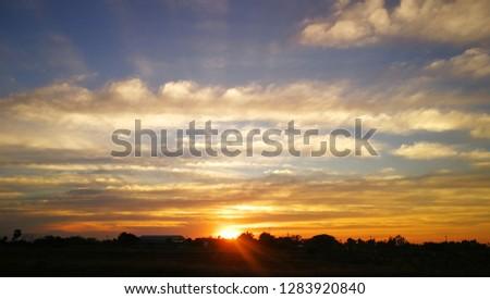 Sunset by the sunset lake sunset thailand sunset asia