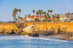 Sunset Cliffs Beach Coastline in Sunny San Diego, California