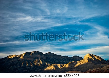 Sunset Clouds At Red Rock Canyon