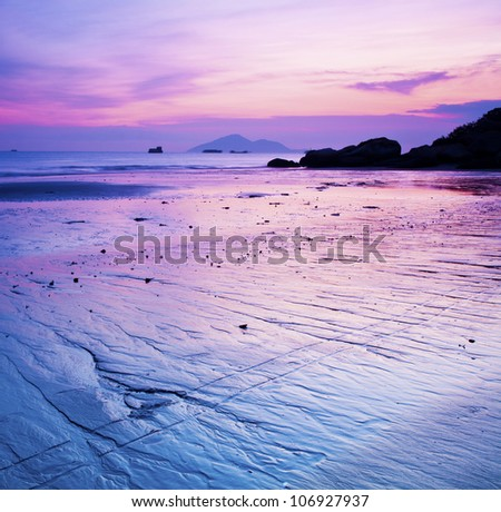 Sunset coast - stock photo