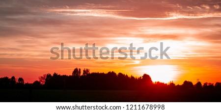 sunset contrast nature #1211678998