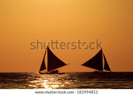 Sunset Cruise in Traditional Island Sailboat