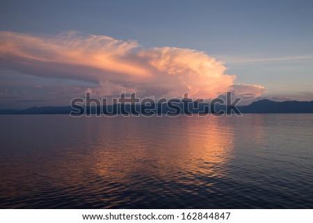 Sunset cruising out of Rabaul