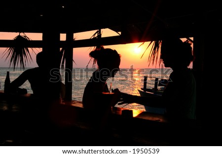 Sunset Drink - stock photo