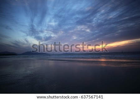 sunset evening glow #637567141