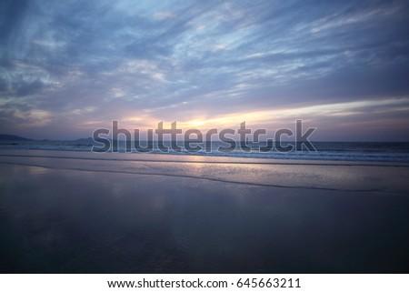 sunset evening glow #645663211