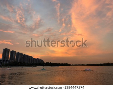 sunset evening sky evening travel thailand #1384447274