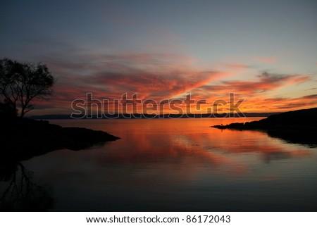 Sunset, Freycinet National Park, Tasmania, Australia