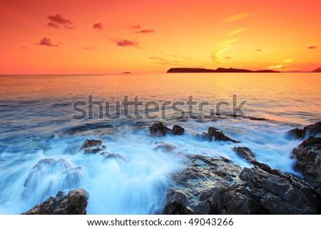 Sunset from Dubrovnik, Croatia
