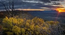 Sunset from Point Lookout Mesa Verde National Park, Cortez, Colorado