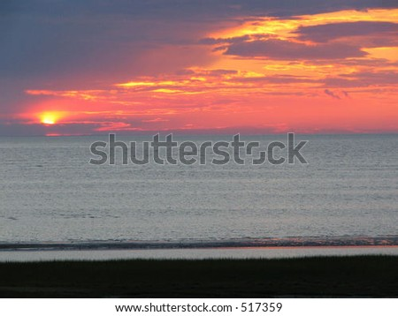 Sunset from the shore, Orleans, MA