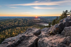 Sunset from the top of Teapot mountain - Prince George - British Columbia - Canada