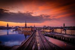 Sunset, Gamla Stan, Stockholm, Sweden