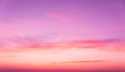 Sunset Glow Evening Scene