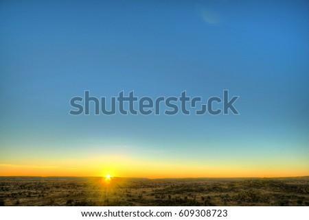 Sunset in Australian outback #609308723